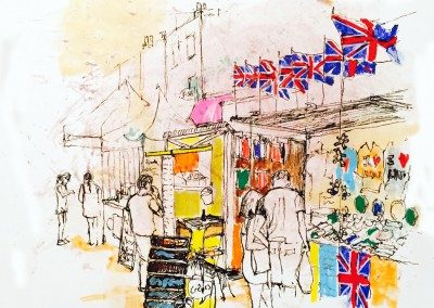 Camden Market, Rugby - Pen, felt tips and tea – 2015 | Leanne Gilroy | Rugby
