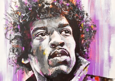 Jimi (private commission) acrylic on canvas, 70x70cm – 2014 | Leanne Gilroy | Rugby