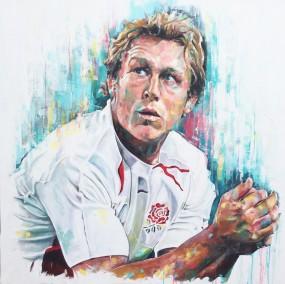 Jonny Wilkinson, oil on canvas, 152x152cm 2016 | Leanne Gilroy | Rugby