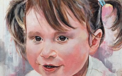 Maizy, (private commission) acrylic on canvas, 50x50xm – 2014 | Leanne Gilroy | Rugby