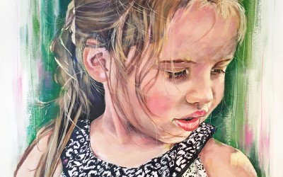 Mia, acrylic on canvas, 80x60cm – 2014 | Leanne Gilroy | Rugby