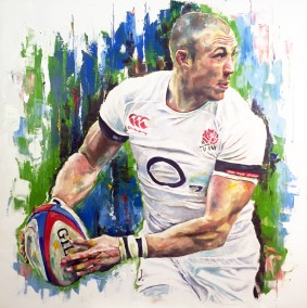 Mike Brown, oil on canvas, 90x90cm - 2015 | Leanne Gilroy | Rugby