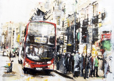 Piccadilly 2, London, mixed media on canvas – 2012 | Leanne Gilory | Rugby