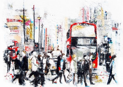 Piccadilly 3, London, mixed media on canvas – 2012 | Leanne Gilory | Rugby