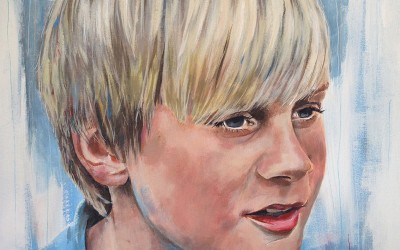 Ryan, (private commission) acrylic on canvas, 50x50cm – 2014 | Leanne Gilroy | Rugby