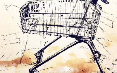 Trolley – Pen and tea – 2013 | Leanne Gilroy | Rugby