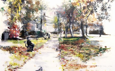 Autumn, Rugby, mixed media on canvas – 2011 | Leanne Gilroy | Rugby