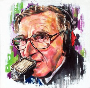 Bill McLaren - The voice of rugby, oil on board, 60x60cm – 2016 | Leanne Gilroy | Rugby