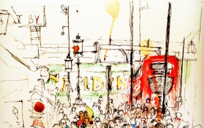 Camden – pen, felt tips and tea – 2013 | Leanne Gilroy | Rugby