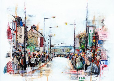 Camden, London, mixed media on board – 2013 | Leanne Gilroy | Rugby