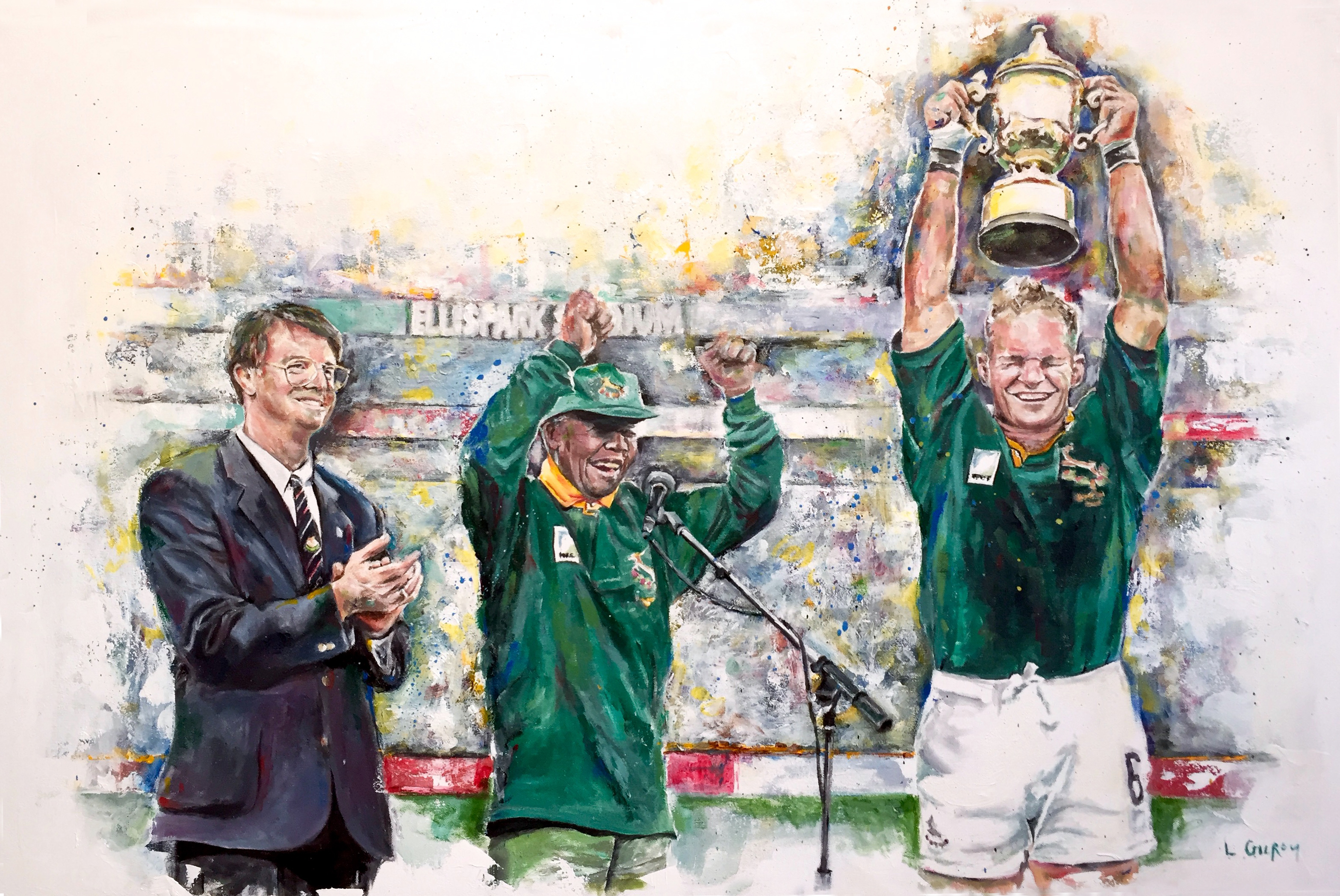 Commission from World Rugby, oil on canvas, 90x60cm – 2016 | Leanne Gilroy | Rugby