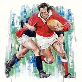 Gareth Edwards, oil on canvas, 60x60cm – 2016 | Leanne Gilroy | Rugby