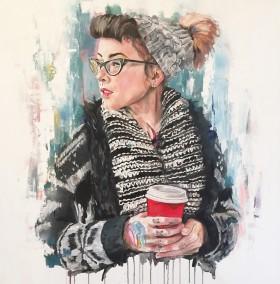 Hannah, oil on canvas, 100x100cm – 2016 | Leanne Gilroy | Rugby