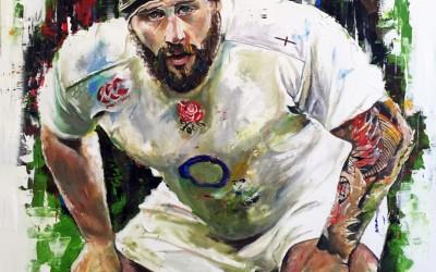 Joe Marler, oil on canvas, 90x90 cm – 2015 | Leanne Gilroy | Rugby