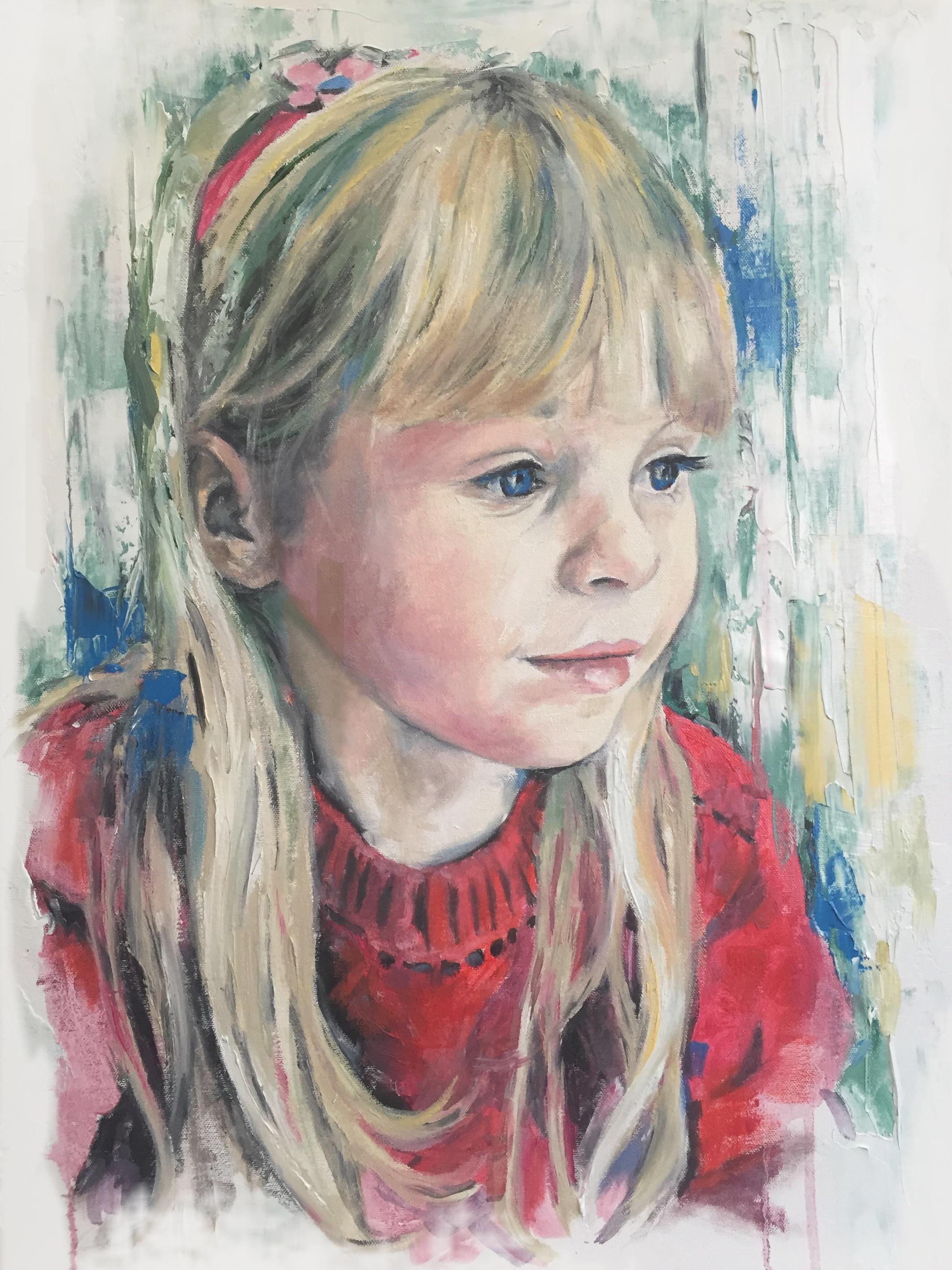 Tallulah, oil on canvas, 70x50cm - 2015 | Leanne Gilroy | Rugby
