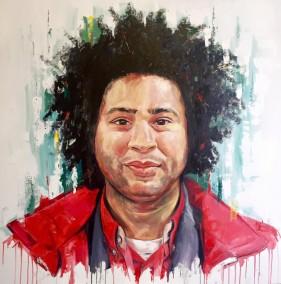 Marlon, oil on canvas, 100x100cm – 2016 | Leanne Gilroy | Rugby