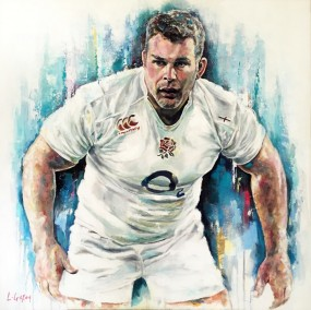 Private Commission - Nick Easter, oil on canvas, 90x90cm – 2016 | Leanne Gilroy | Rugby