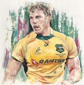 David Pocock, oil on canvas, 90x90cm – 2016 | Leanne Gilroy | Rugby