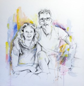 Private commission, pen, pencil and gouache - 2015 | Leanne Gilroy | Rugby