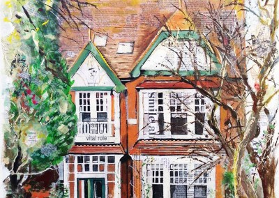 Clifton Road, Rugby (private commission) mixed media on canvas – 2014 | Leanne Gilory | Rugby