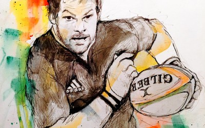 Richie McCaw - Pen, pencil, felt tips – 2015 | Leanne Gilroy | Rugby