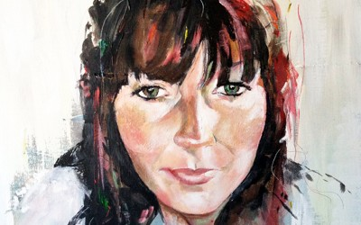 Self portrait, acrylic on canvas, 60x60cm – 2013 | Leanne Gilroy | Rugby