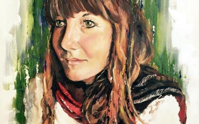 Self portrait, oil on canvas, 80x60cm – 2015 | Leanne Gilroy | Rugby