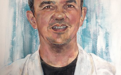 Sensei Malcom Bale (private commission)  acrylic on canvas, 60x40cm – 2014 | Leanne Gilroy | Rugby