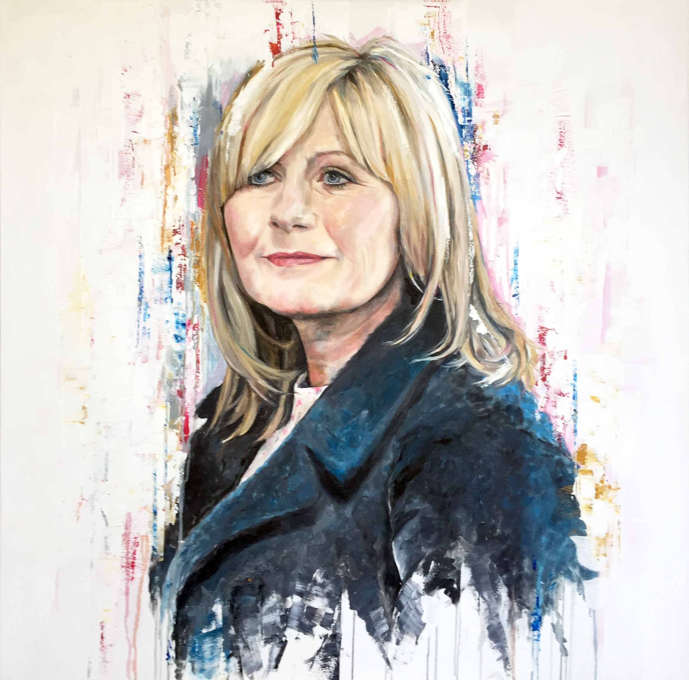 Tracey, oil on canvas, 100x100cm – 2016 | Leanne Gilroy | Rugby