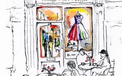 Vintage Tearoom - Pen, felt tips – 2014 | Leanne Gilroy | Rugby