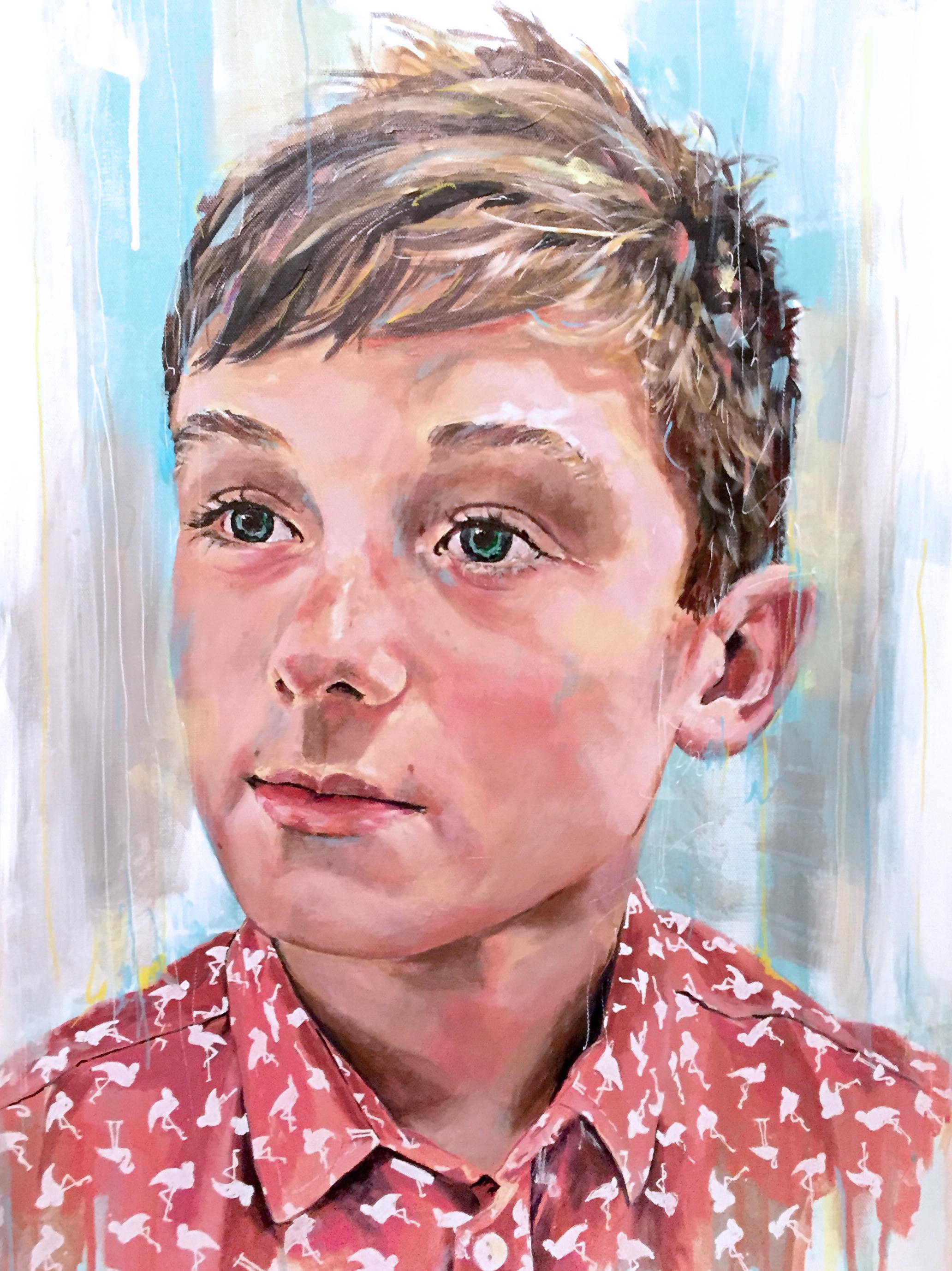 Luie, acrylic on canvas, 60x80cm - 2014 | Leanne Gilroy | Rugby